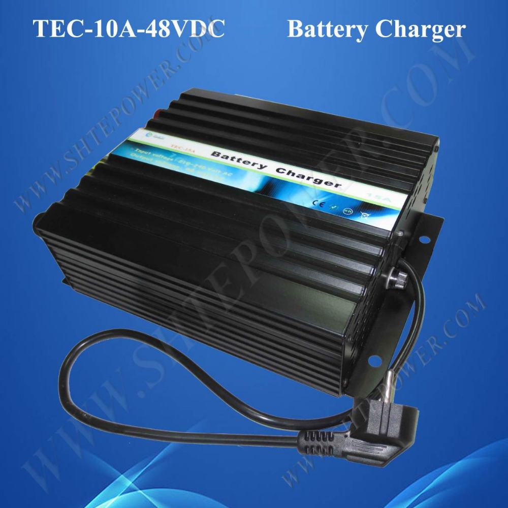 Lead Acid and Gel 48V CE Chargers 10A Battery Charger 220AC(China (Mainland))