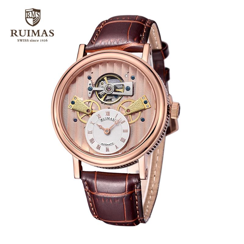 Ruimas fashion men mechanical wristwatch luxury sports waterproof watches multifunction business man 6639