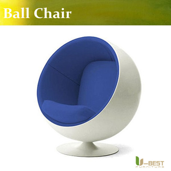 Stability ball chair modern deisgner furniture ball chair eero aarnio in fiberglass shell and fabric seating(China (Mainland))