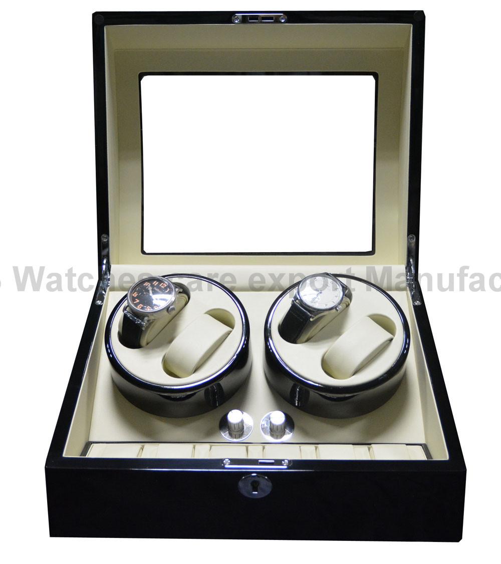 Роскошный 4 качество автоматические часы намотки дерево 6 хранения слоты houshold удобно часы коллекция box и большой подарок