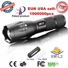 100%AUTHENTIC E17 CREE XM-L2 2000Lumens Aluminum cree led Torch Zoomable cree LED Flashlight Torch light For 3xAAA or 1x18650(China (Mainland))