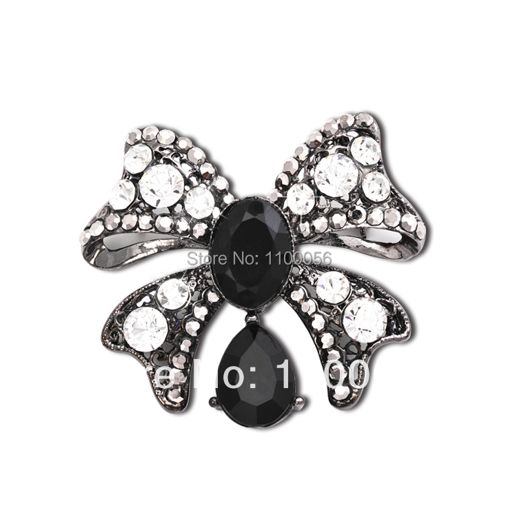 Free Shipping 2014 Fashion Jewelry Crystal Flower Brooch Pins Cheap Butterfly Bows Brooch For Kids X0392(China (Mainland))