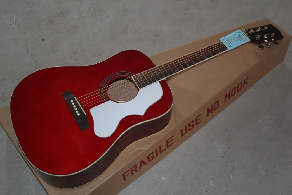 2016 New + Factory + Red CUSTOM Chibson hummingbird acoustic GB hummingbird electric acoustic guitar Free Shipping Hummingbird(China (Mainland))