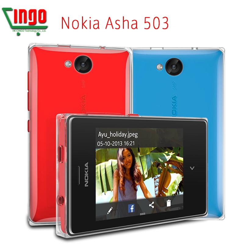 Original Nokia Asha 503 3.0\screen 5MP\Camera 3.0\Capactive Strong 4G ROM WIFI 3G phone Freeship Free shipping(China (Mainland))