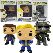 Funko pop fallout 4 Vault Boy 53# Lone Wanderer Poer Armor Game Action Figure PVC Collection Toy Free Shipping