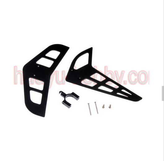 ERZ-022 Vertical and horizontal tail blade set DYNAM E-RAZOR450 rc helicopter parts free shipping(China (Mainland))