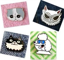 X067Free shipping Cartoon Cute Dog Metal Brooch Pins,Fashion Jewelry Wholesale(China (Mainland))