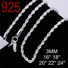 2014 twisted sngapore chain 16 18 20 22 24 inches 925 sterling silver 2 years guarantee