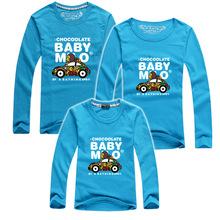 1 PC HOT Selling 95% Cotton Long Sleeve Shirt Family Set T Shirts 2016 Matching Family Clothing Men Women Kids Large T-Shirts