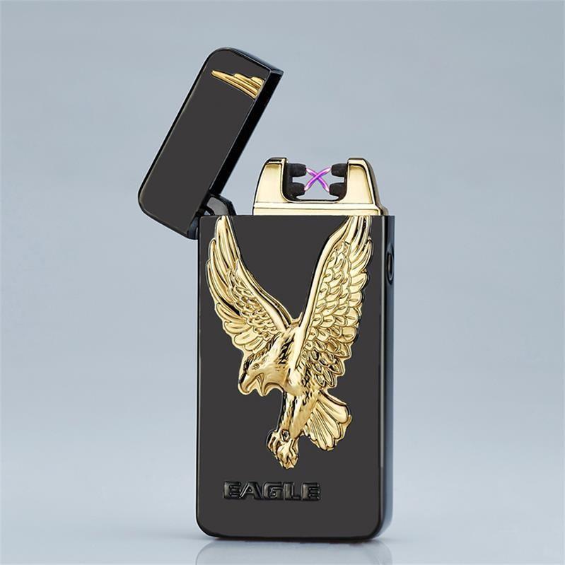 ถูก Eagle 3Dแบบเบาชีพจรคู่Arcบุหรี่ชาร์จUSBเบาสำหรับผู้ชาย