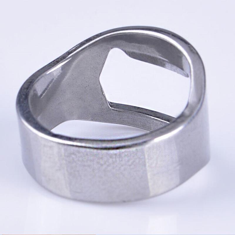 4 color stainless steel beer opener finger ring bottle. Black Bedroom Furniture Sets. Home Design Ideas