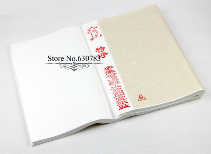 Newest Raw Rice Paper,Hot sale Chinese Xuan Paper for Artist Painting and Calligraphy,White,35*70cm,100pc,Free shipping