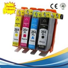 4 x 364 XL 364XL Combo Pack Compatible Ink Cartridges HP HP364 HP364XL Photosmart B109 B110 B209 B210 C309 C310 C410 Printer - Zhongshan Xin Rui Digital Co., Ltd. store