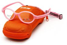"Free Shipping ""Micra"" Brand Design Kids Glasses wtih Cute Case Carbon Fiber oculos Children"
