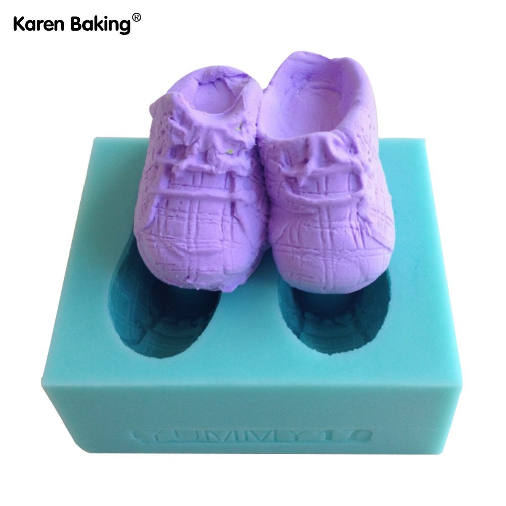 1pcs Shoes Shape Chocolate Candy Jello 3D Silicone Mold Cake Tools/Pastry Tools Soap Mold C035(China (Mainland))