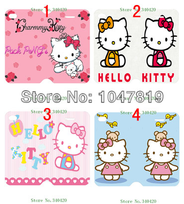 New Hot 4pcs/lots wholesale Hello Kitty hard For iPhone 4 4G 4S Flip PU Leather Case Wallet Flip Case +free shipping(China (Mainland))