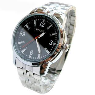 Free shipping watch classic white collar mens watch male watch fashion table High quality table Stainless steel Wristwatches