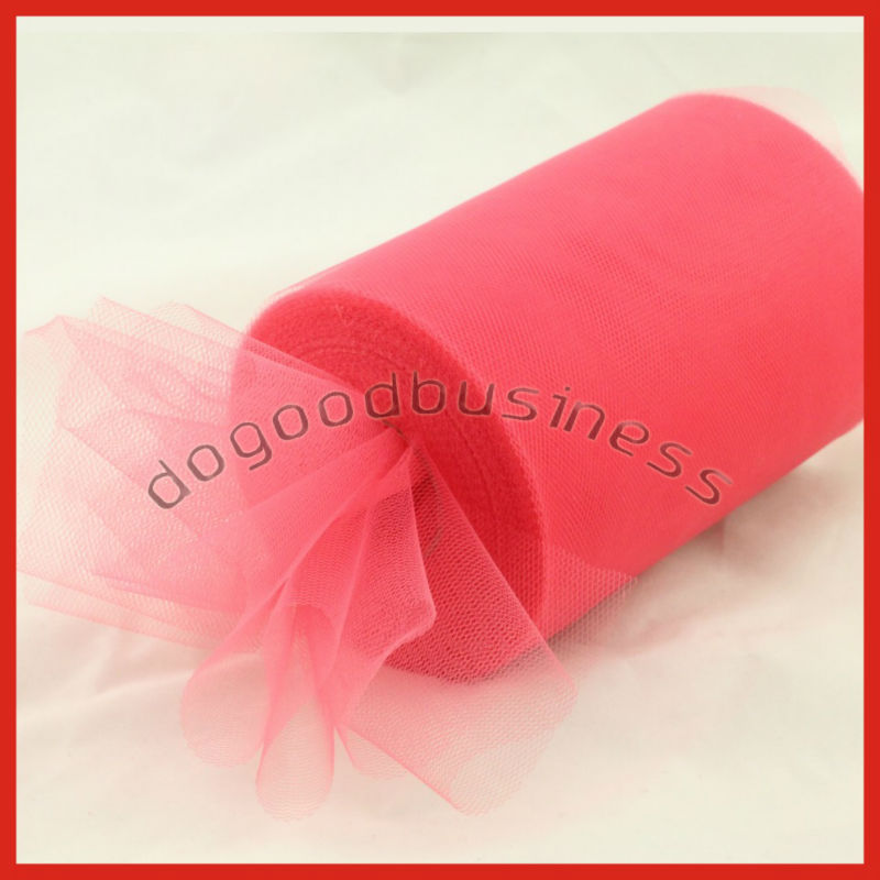 "Coral Tulle Roll Spool 6""x100yard Tutu Wedding Gift Party Decorations Bow,Nylon Material Tutu Faric High quality(China (Mainland))"