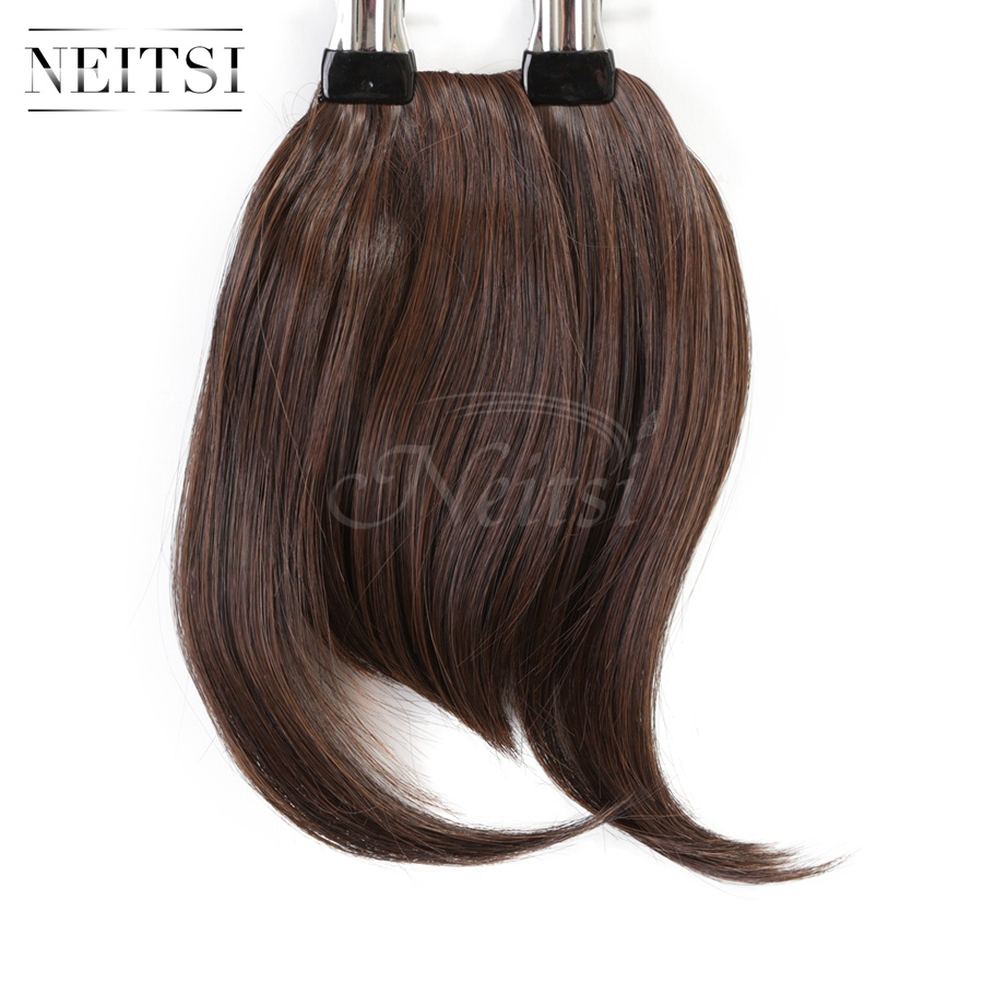 Neitsi 1PC 25g M2/30# Synthetic Clip In Natural Hair Bangs Extensions Straight False Fringe Hair Bangs Hairpiece Fast Shipping<br><br>Aliexpress