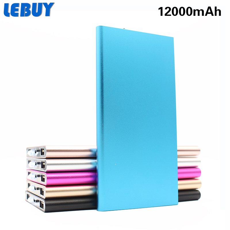 LEBUY l2000mAh External Portable Battery Power Bank USB Charger 12000mAh 18650 Battery Power Bank Backup External BatteryCharger
