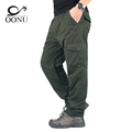 OONU 2016 Winter Double Layer Men s Cargo Pants Warm Baggy Pants Trousers For Men Male