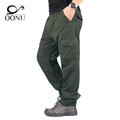 OONU 2017 Winter Double Layer Men s Cargo Pants Warm Baggy Pants Trousers For Men Male