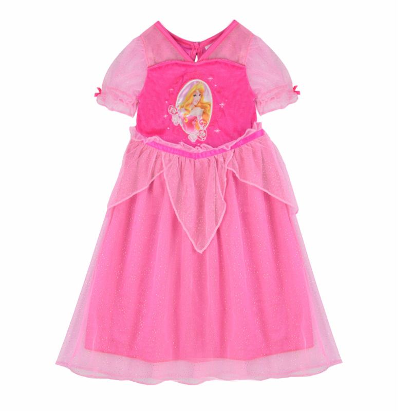 2015 Casual Girls Summer Cinderella Dress Rose Red Toddler Girl Floral Dresses Kid's Costume Clothing disfraces infantiles CA173(China (Mainland))