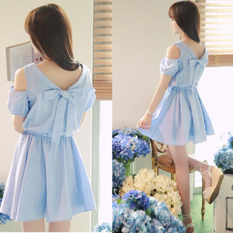 office short sleeve blue mini dress dresses cheap clothing clothes