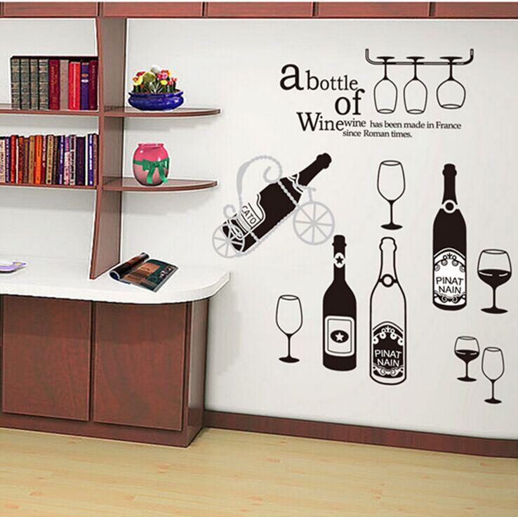 venta de papel grande dibujos animados nio vino rojo del beb vidrio etiqueta de la pared