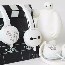 2016 Hotsale Bighero6 Cartoon Headphone IX-11 Cute Baymax Headset Kids Earphone For Iphone For Samsung MP3 Phone Xiaomi