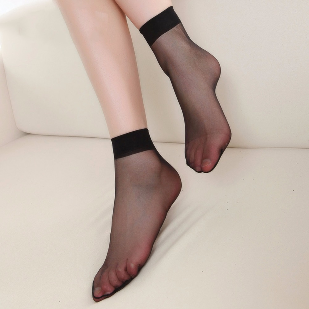 Hot Sale Color Crystal Socks Short Thin Transparent Women Socks Invisible 2015 New 8CM Casual