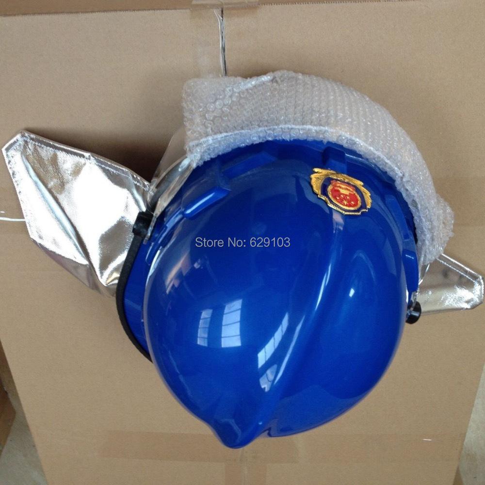 blue color fireman helmet for firefighting officer