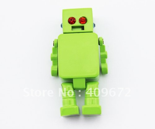 retail genuine 2G 4G 8G 16G 32G usb drive thumb drive usb flash drive memory metal classic robot Free shipping+Drop shipping(China (Mainland))