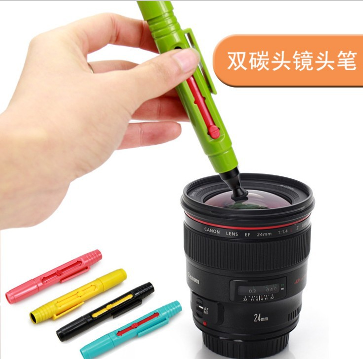 Double-Head Camera Digital SLR Toner Lens Cleaning Pen Cleaner Tool For Canon For Nikon Olympus For Sony Free shipping #TT144(China (Mainland))