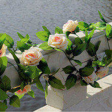 Artificial Rose Garland Silk Flower Vine