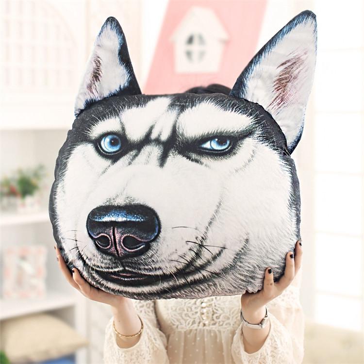 Hot sale cute 3D Samoyed Husky doge Animal Dog Cushion Stuffed Pillow Sofa Car Decorative creative birthday plush toys gift(China (Mainland))