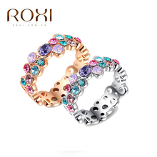 ROXI fashion jewelry ring diy22073 female romantic valentine's day wedding jewelry 18 k gold plated zircon ring 2010438215b(China (Mainland))