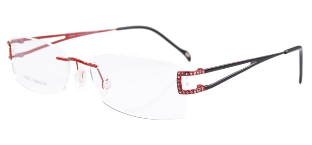 Rimless Eyeglasses Executive Optical : Eyekepper Rimless Titanium Optical Eyeglasses Frame ...
