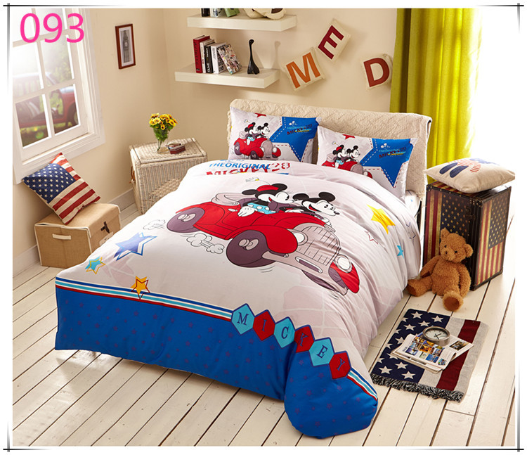 free shipping minnie bedding sets kids mickey mouse duvet cover twin full size bedclothes bed. Black Bedroom Furniture Sets. Home Design Ideas