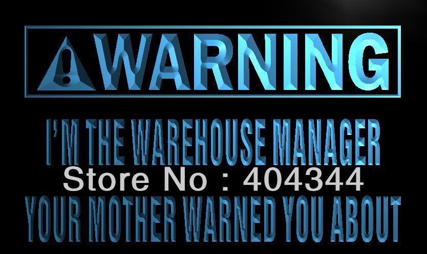 LZ024- Warning I'm the warehouse manager LED Neon Light Sign(China (Mainland))