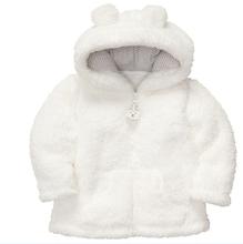 2014 spring autumn Coral velvet baby jacket coat long sleeved hooded infant boy girl carter thick