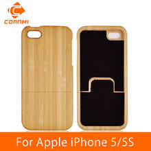 CORNMI For iPhone 5 SE Case Wood Real Bamboo Mobile Phone Bags Capa Covers Cases For iPhone 5 S 5S Housing Protector LTH(China (Mainland))