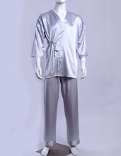 Mens 19MM 100% Pure Silk Pajama Set Sleepwear Nightwear Top & Bottoms AS1191(China (Mainland))