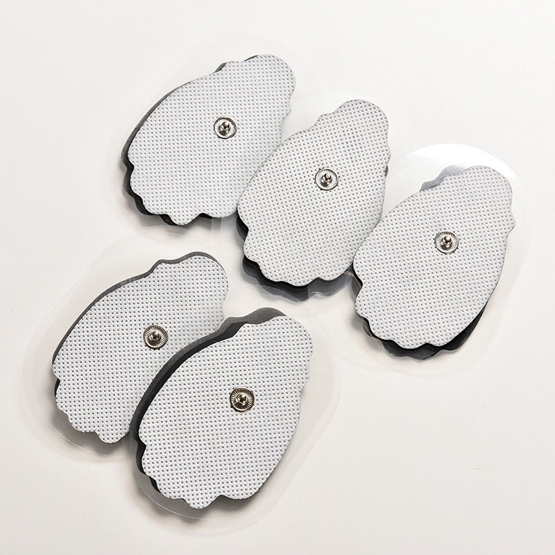 10 PCS Mini White Non-woven Tens Snap electrode pad for body massage Tens unit Acupuncture 7*5cm(China (Mainland))