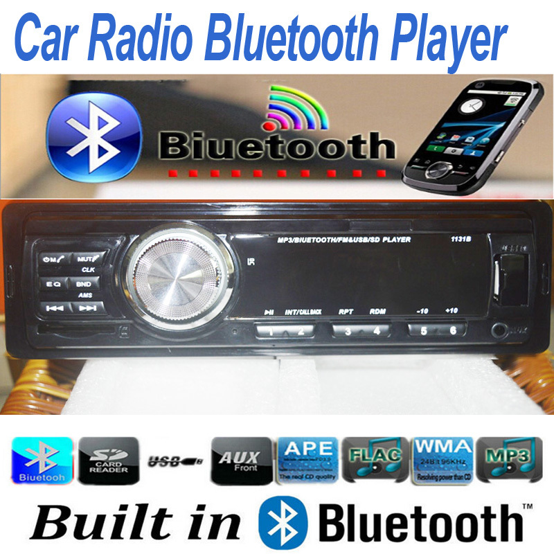12V Car Radio Stereo Bluetooth Handsfree Call Phone with SD AUX IN MP3 FM USB 1