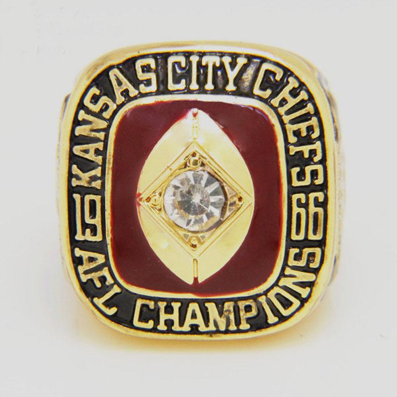 Hot Sale Fashion 1966 Kansas City Championship Ring Replica Size 11, Amazing Quality 18k Gold Plated Jewelry Ring(China (Mainland))