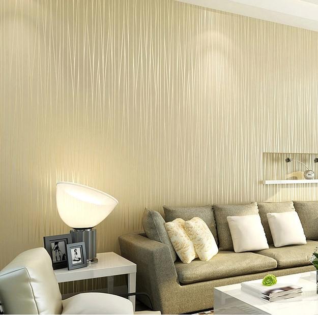 Sala Pequena Com Tecido Na Parede ~ Não tecido papel de parede simples minimalista sala de estar quarto