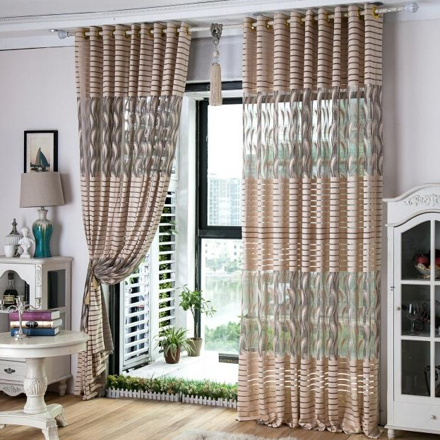 Fabric Curtains Designer Design Mesh Fabric Curtain