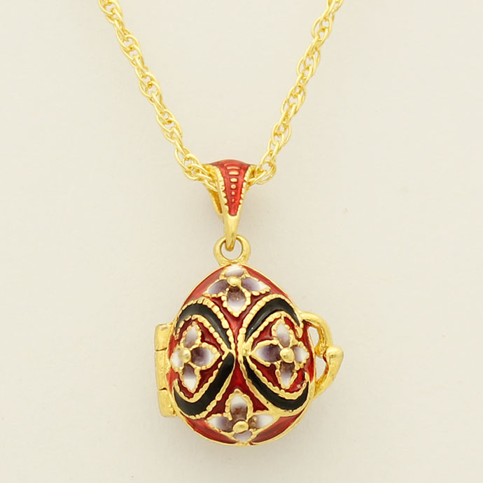 Suitable for European luxury brands necklace enamel flower crystal pendant necklace Faberge eggs, Easter gifts(China (Mainland))