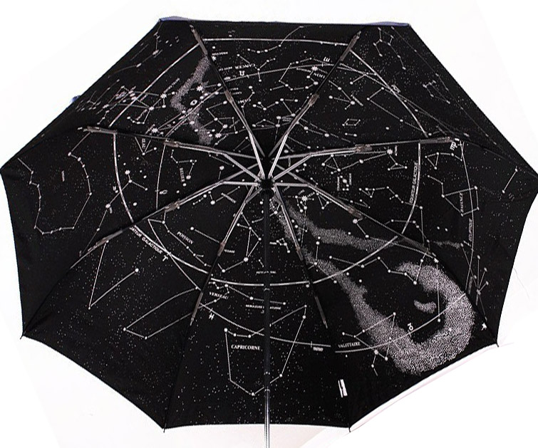 Free Shipping 1Piece Creative Automatic Constellation Umbrella Star Map Starry Sky Folding Umbrella(China (Mainland))